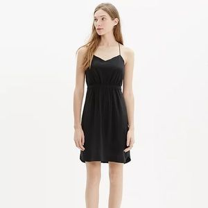 MADEWELL silk daylight dress black size 0